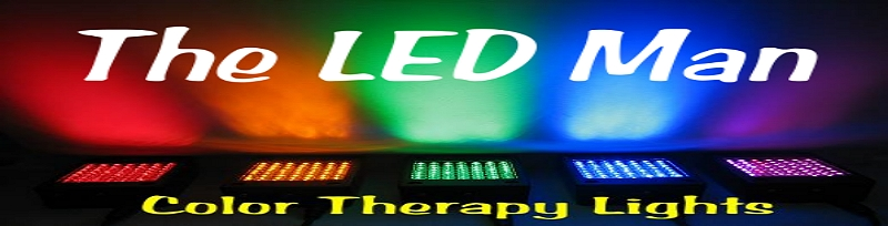 The LED Man Logo - LED red Light Therapy