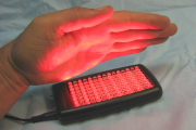 Dual red and infrared LED healing light with 660nm red and 850nm infrared